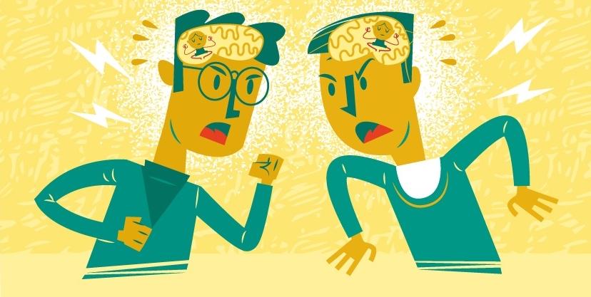 Come calmare il tuo cervello durante un conflitto